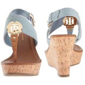 f688fd329 Tommy Hilfiger Shoes - 🎀NWOB🎀 Tommy Hilfiger Manne 2 Denim Wedge Sandal